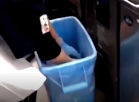 くら寿司のアルバイトが炎上。食材をふざけてゴミ箱に捨ててそのまままな板に戻す動画を投稿。