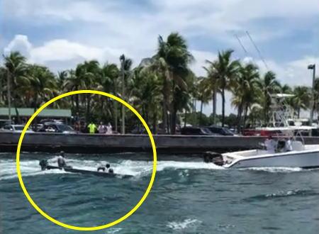 何が悪かった?大きな船に曳航されていた小さなボートが沈没してしまう瞬間の映像。