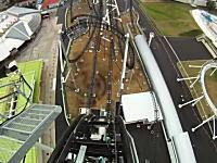 高飛車動画。富士急ハイランドに完成した落下角度世界一のローラーコースター