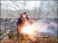 外人たちの火遊び動画。バーベキューグリルに花火を投入して度胸試し爆発