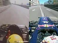 F1マシン25年の進化。1986年式ロータスと2011年式レッドブルの車載映像。
