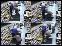 男性店員のケツのニオイを執拗に嗅ぎまわる変態野郎が監視カメラに捉えられるw