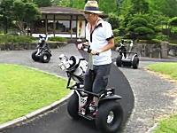 オレオレ動画。ゴルフ場でセグウェイ乗ったったwwwww佐用ゴルフ倶楽部