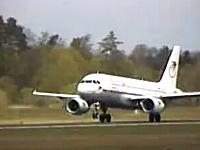 打ち上げ離陸。エアバスA319で角度がヤバすぎる急上昇したった動画。古い