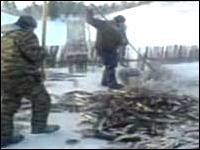 ロシア流の魚の獲り方がスゴイw獲ったらそのまま冷凍食品wwwべんりだwww