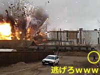 シベリアで花火倉庫が大爆発。その瞬間を撮影したビデオ。何これコワイ。