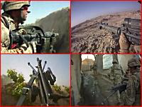 リアル戦争。どこに潜んでいるか分からない敵と戦う兵士のヘルメットカメラ