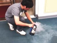 液体窒素ボトルが手元でバアアン!と爆発して大丈夫かよ(@_@;)音量注意
