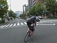 東京には来るなw自転車のスピード狂が日本でも撮影していた無謀運転