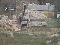 シリア動画。戦車を望遠レンズで撮影していたら主砲で狙われてしまう(((゚Д゚)))