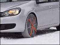 凍結路、雪道対策には車用靴下「オートソック」最強。乗り心地良、取り付け簡単