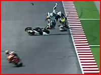 Moto2富沢祥也(19)選手の死亡事故映像。5日イタリア、サンマリノGP