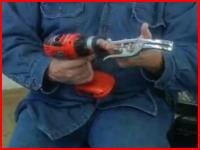 電動工具で馬の去勢をする映像。切らずにちぎり取る?(@_@;)