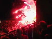 ミサイルかよwww打ち上げに失敗した花火が満員のスタンドに飛んできたあ!