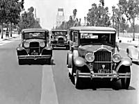 1930年(昭和5年)。83年前の車載ビデオ。ビバリーヒルズ(カリフォルニア)
