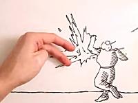 Maker vs Marker。ホワイトボード上で戦うストップモーションアニメが楽しい