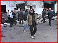 シリア政府軍の戦闘機がパン屋を爆撃。死者60名負傷者100名以上。悲惨な現場