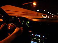うわはえー!山陽自動車道をフェラーリで爆走するムービー。ふわわkm/h