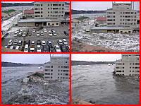 目の前の町が完全に水没・・・。新たに見つけた津波の恐ろしい映像・・・。