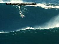 信じられない大波。サーフィンで高さ30メートルの波に乗り世界記録を樹立。