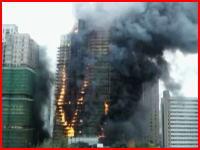 上海の高層マンションが大炎上 少なくとも42人が死亡した火災の映像