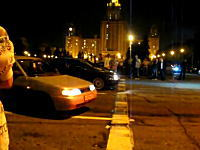 公道でドラッグレースをするととても危険だという例 真横からどーん(@_@;)