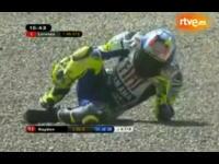 バレンティーノ・ロッシがイタリアGPフリー走行中に転倒し骨折 同GPは欠場に