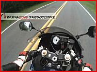 路上に散らばる肉片注意。ツーリング中のバイクに野生の鹿さんが衝突。
