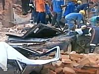ブラジルで歴史的建造物の壁が突然崩壊し複数の車が下敷きに。7名死亡。