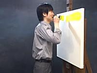 キャンバスに叫び声を描く韓国人芸術家キム・ボムさんの作品が奇抜すぎる