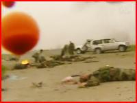 戦争ドキュメンタリー 味方の攻撃機に誤爆された側の悲惨な映像