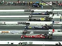 合計3万馬力OVER!米人「ドラッグレースを4レーンにしたら迫力が倍増した!」