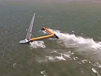 はやっ!wwwセーリングスピード世界記録を樹立したヨットの形が凄い。