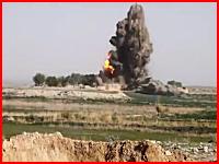 凄い迫力。タリバンの兵器工場に6発の精密誘導弾が打ち込まれる衝撃映像