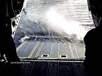 ヘリコプターの貨物室にゴムボートがダイレクトにどーん!グングン動画
