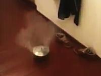 部屋の中で鍋爆弾をやったら大変な事になった動画。最後ワロタwwwww