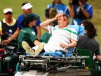 プロゴルファーのドライバーショットが観客の頭部を直撃。ぶっ倒れて運ばれる