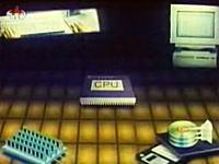 北朝鮮科学番組 コンピュータの仕組みを詳しく解説しているムービー