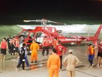 海水浴客で賑わうビーチにヘリコプターが墜落。その瞬間を捉えたスクープ映像