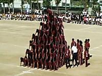 中学校の組体操進化しすぎワロタwwwwwピラミッドで10段とかwwwww