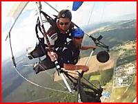見るだけで気分が悪くなるゲロゲロ動画。上空で吐いたゲロが飛散で悲惨