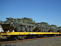 貨物列車に軍用車両がいーっぱい!なグングン動画。軍事・武器・兵器ネタ