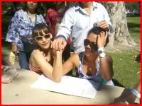 女の子同士の腕相撲で肘がポキッ!とぎゃあああああ(@_@;)衝撃映像注意