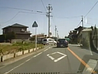 シュールなアクセラ。飛び出してきた車を避けてそのままどっか行ったwww