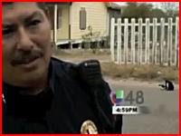 テレビ撮影中に取材の後ろでワンコが車にひき殺されてしまう放送事故。墨
