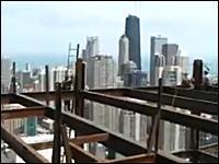 高所恐怖症動画 建築屋さんはマジでクレイジー!高所で命綱なしで作業しちゃう