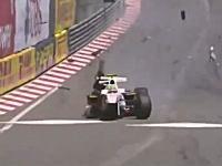 F1モナコGPで小林可夢偉のチームメイトが病院に搬送される事になる激しいクラッシュ