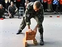 悲しき特殊部隊さん(´・_・`)レンガの掌底割りでなかなか割れてくれない・・・。