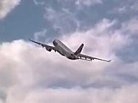 超向かい風なら飛行機は空中静止できる!?ほぼ止まったように見えるエアバスA330