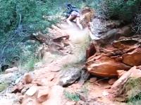 危機一髪!藤岡弘もビックリのガチ落石からギリギリで助かる撮影者